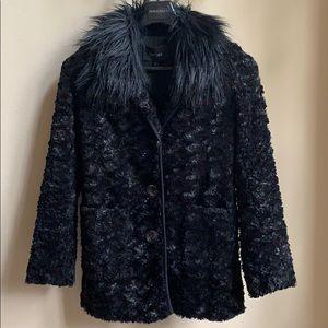 ❤️Beautiful black faux for car coat!!!!